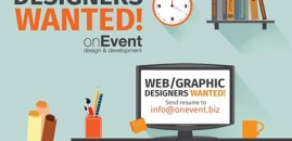 Now Hiring – Web/Graphic Designer Wanted!